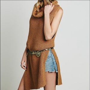 Free people Whitehorse brown tunic